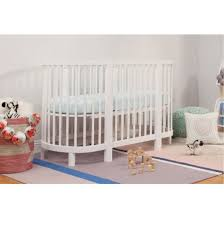 Hula Convertible Oval Crib and Mini Bassinet