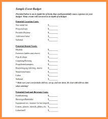 Event Budget Sample Event Budget Proposal Template Sample Blank For An Document