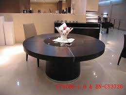 perfect round black oak dining table glass lazy susan led lights 1 6m large round
