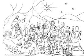 Christmas Nativity Coloring Pages For Adults Thanhhoacarcom