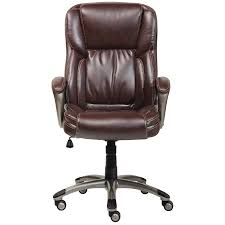 brown leather office chairs. Serta Biscuit Brown Bonded Leather Executive Office Chair - Free Shipping Today Overstock 16260150 Chairs R
