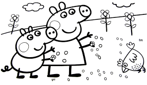Small Picture peppa pig coloring pages for kids peppa coloring book video for
