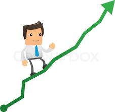 Chart Cartoon Illustration Of Cartoon Office Worker Stock Vector