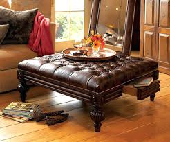 tufted leather ottoman coffee table antique tufted leather ottoman coffee table with drawer furniture winslow bicast