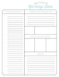 Daily Task List Template Word Sample Planner Best Calendar Templates