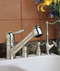 rohl kitchen faucets. Rohl R77V3PN Polished Nickel Country Kitchen Faucet With Pull Out Spray And Metal Lever Handle - Faucet.com Faucets U