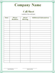program sheet template call sheet template selimtd