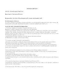 Housekeeping Job Resume Objective Hospital Sample Media R Yomm Fascinating Housekeeper Resume
