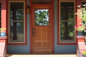 36 inch exterior door with window. 36 inch exterior handmade redwood door installed in a renovated bungalo with window