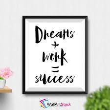 cute office decorations. printable dreams work success wall art workplace office decor cute poster inspirational life decorations