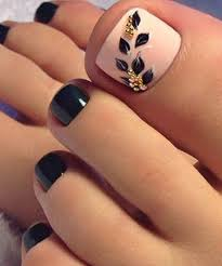 Cute Pedicure Designs Toe Nail Art Fall