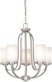 vaxcel ox chu005bn oxford contemporary brushed nickel finish 25 25 nbsp tall chandelier light loading zoom