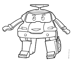 Grand Coloriage Dessiner Robocar Poli