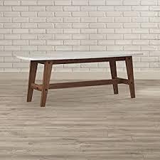 Pryer Oval Marble Coffee Table Wood Legs-Walnut,White