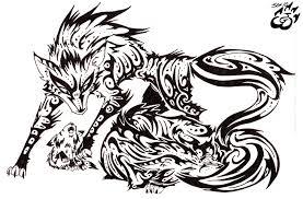 tribal fox drawing. Plain Fox Tribal Fox Set By Wolvern  With Fox Drawing V