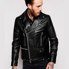 asos leather biker jacket with belt in black 15 classy leather jackets for every budget