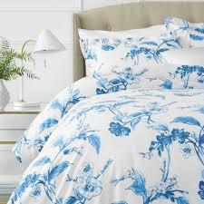 pinzon signature 190 gram cotton heavyweight velvet flannel duvet set full queen fl smoky blue souq uae