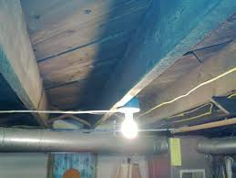 image of unfinished basement ceiling ideas with light