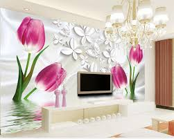 Wall Mural For Living Room Tulip Wall Mural Promotion Shop For Promotional Tulip Wall Mural