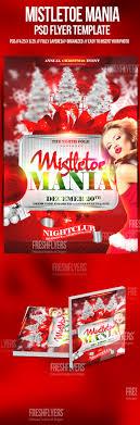 mistletoe mania christmas flyer template christmas party flyer mistletoe mania christmas flyer template