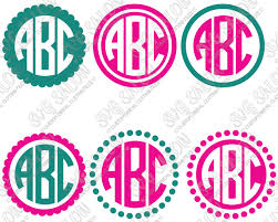 Free for commercial use no attribution required high quality images. Simple Circle Monogram Frame Cutting File Set Version 2 In Svg Eps Dxf Jpeg And Png Format Svg Salon