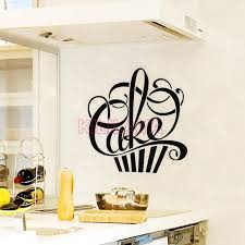 cupcake wallpaper for kitchen. Beautiful For Stickers Cuisine Cupcake Vinyl Wall Decals Wallpaper For Kitchen Fridge  Mural Sticker Art Home Decor Throughout For