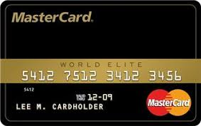 Mastercard Black Card World Elite Mastercard Black Card