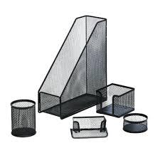 desk furniture 18 jburrows metal mesh desk accessory set 5 piece black compact jburrows metal mesh
