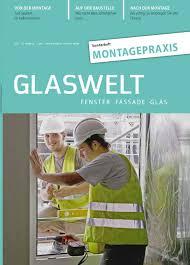 Glaswelt Sonderheft Montagepraxis By Alfons W Gentner Verlag Gmbh