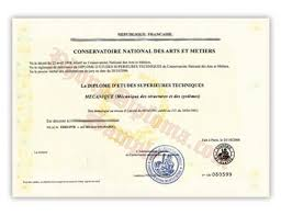 fake diploma samples from com conservatoire national des arts et metiers fake diploma sample from