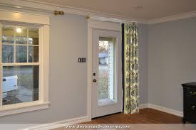 curtain for front doorMy New Full Lite Front Door Plus Three Ideas For Privacy With A