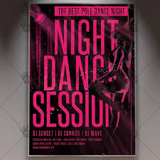 nightclub flyers pole dance party premium flyer psd template dancing nightclub flyer