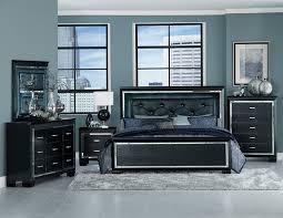 led lighting bedroom. homelegance allura bedroom set with led lighting black led