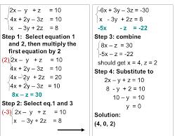 solving system of equations 3 variables calculator tessshlo