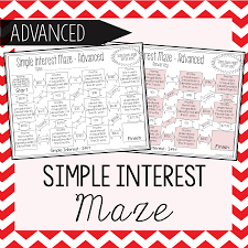 simple interest maze advanced