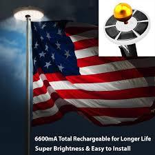 Super Bright Flagpole Light Amazon Com Durable 20 Led Solar Powered Automatic Flag