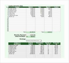 Debt Payoff Excel Template Or Debt Reduction Calculator 8