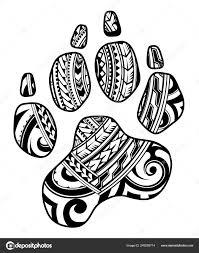 Tribal Tetování S Psí Tlapa Stock Vektor Akvlv 249209714