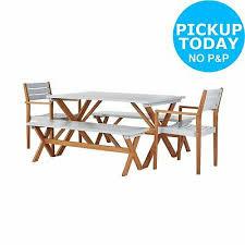argos home richmond 6 seater wooden