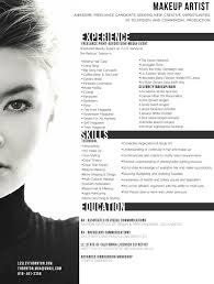 makeup artist resume templates free i like that there is the head shot so you can