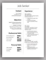 Formal Resume Template Adorable Simple Yet Elegant Cv Template To Get The Job Done Free Download