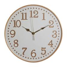 40cm white wooden wall clock white