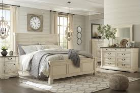 Ashley Furniture Bolanburg Louvered Bedroom Set in White