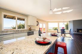 Bright Interior Of Kitchen With Kitchen Island Close Up Sydney