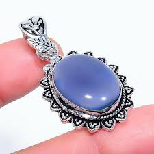 blue lace agate gemstone 925 sterling silver pendant jewelry 1 58 1063252649