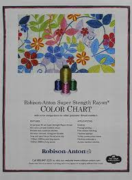 Robison Anton Color Chart Robison Anton Rayon Thread Paper Color Chart Amazon In