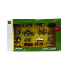 john deere toy tractor set tractor farm toys 1 64 scale 20 piece walmart