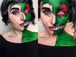 zombie pop art makeup tutorial