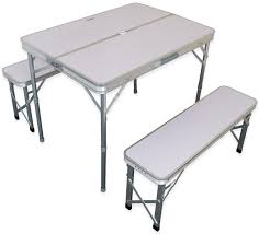 Camping Folding Table And Chairs Set Andes Aluminium Folding Portable Camping Picnic Outdoor Table Amp