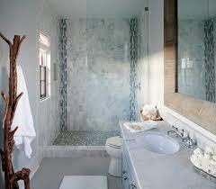 blue mosaic tile shower cottage bathroom sherwin